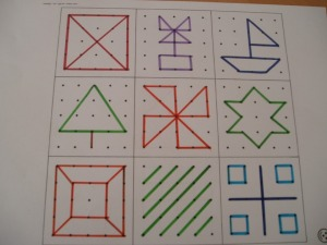 Geo board patterns - Great Key stage 1 activity