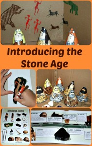 Introducing the Stone Age with home-made cave, cave painting, cone people and much more