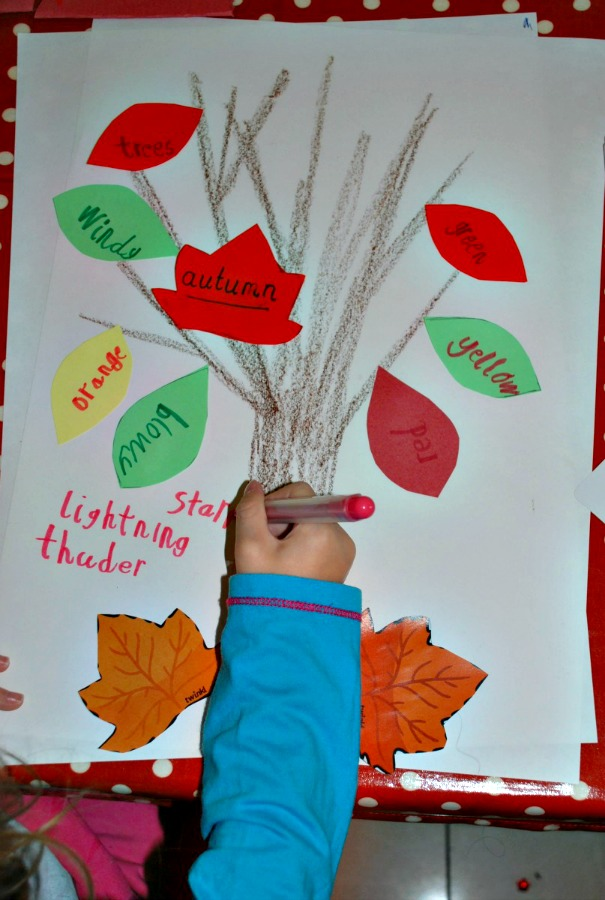 Creating an Autumn Word Tree at home