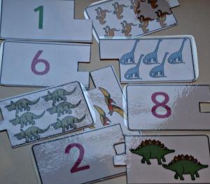 Dinosaur number puzzle