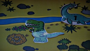 Dinosaur on background
