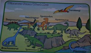 Dinosaur Scene mat