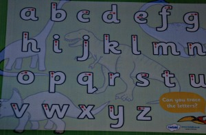 Dinosaur trace letters