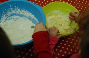 Shortbread mixing