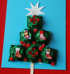 egg carton tree
