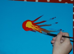 Firework painting 2