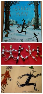 Stick man book by Julia Donaldson a favourite story book and a great book to base some craft activities on