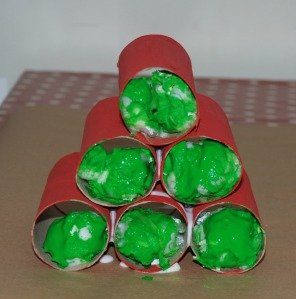 Toilet roll Christmas tree 2