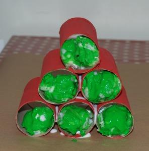 Toilet roll Christmas tree 2