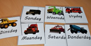 Afrikaans days of the week