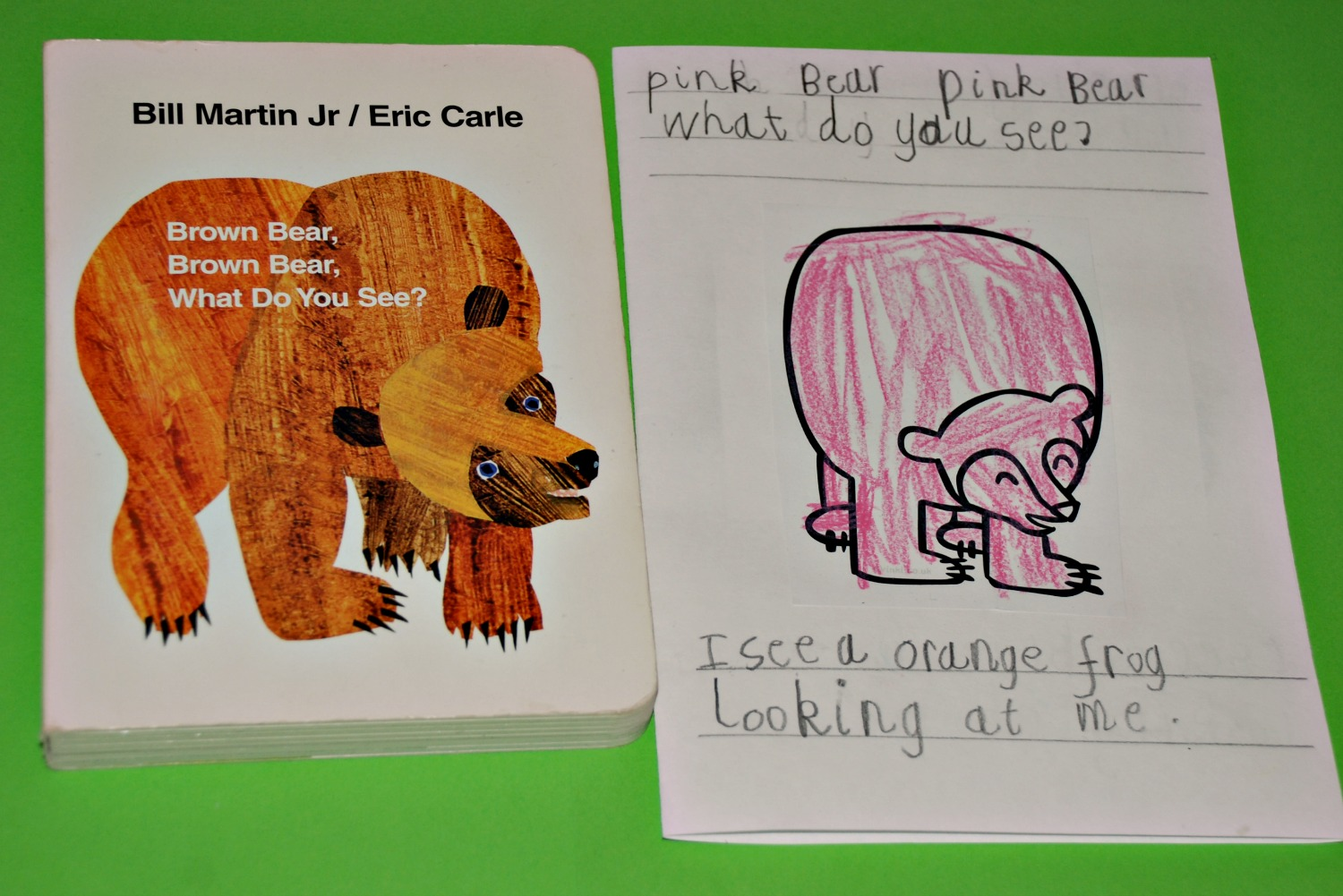 Making A Brown Bear Brown Bear Mini Book Ofamily Learning Together