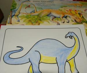 Dino colouring