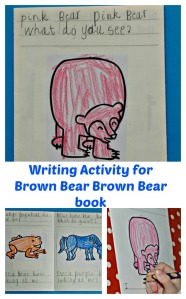 Fun Writing Activity Idea to go along with the Brown Bear Brown Bear story
