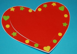Heart card with stickers