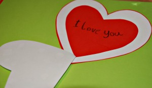 heart card writing