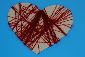 Heart shape red