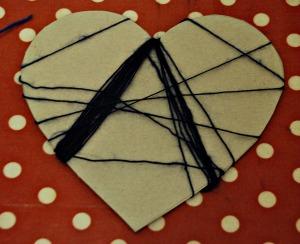 heart weaving blue