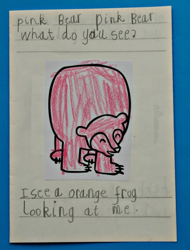 Pink Bear Pink Bear a fun writing activity based on the stunning Brown Bear Brown Bear book