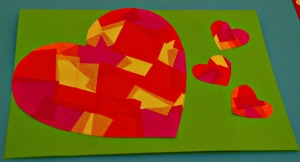 Tissue heart card