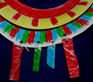 african paper plate necklace 1