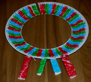 African paper plate necklace 2