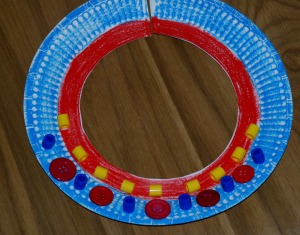 african paper plate necklace 3