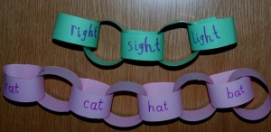 paper chain rhyming words 2
