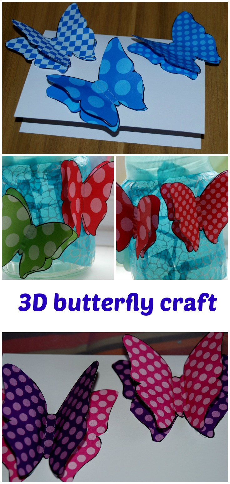 3d Butterfly Crafts Ofamily Learning Together