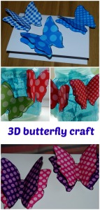 3D butterfly craft ideas.  using the butterflies from the Twinkl website