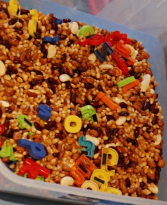 bean tub with letters