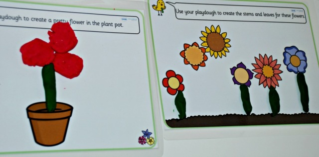 Free to download Twinkl flower Playdough mats