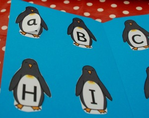 penguin folder with a