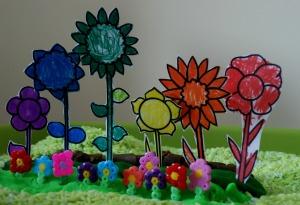 planting a rainbow garden