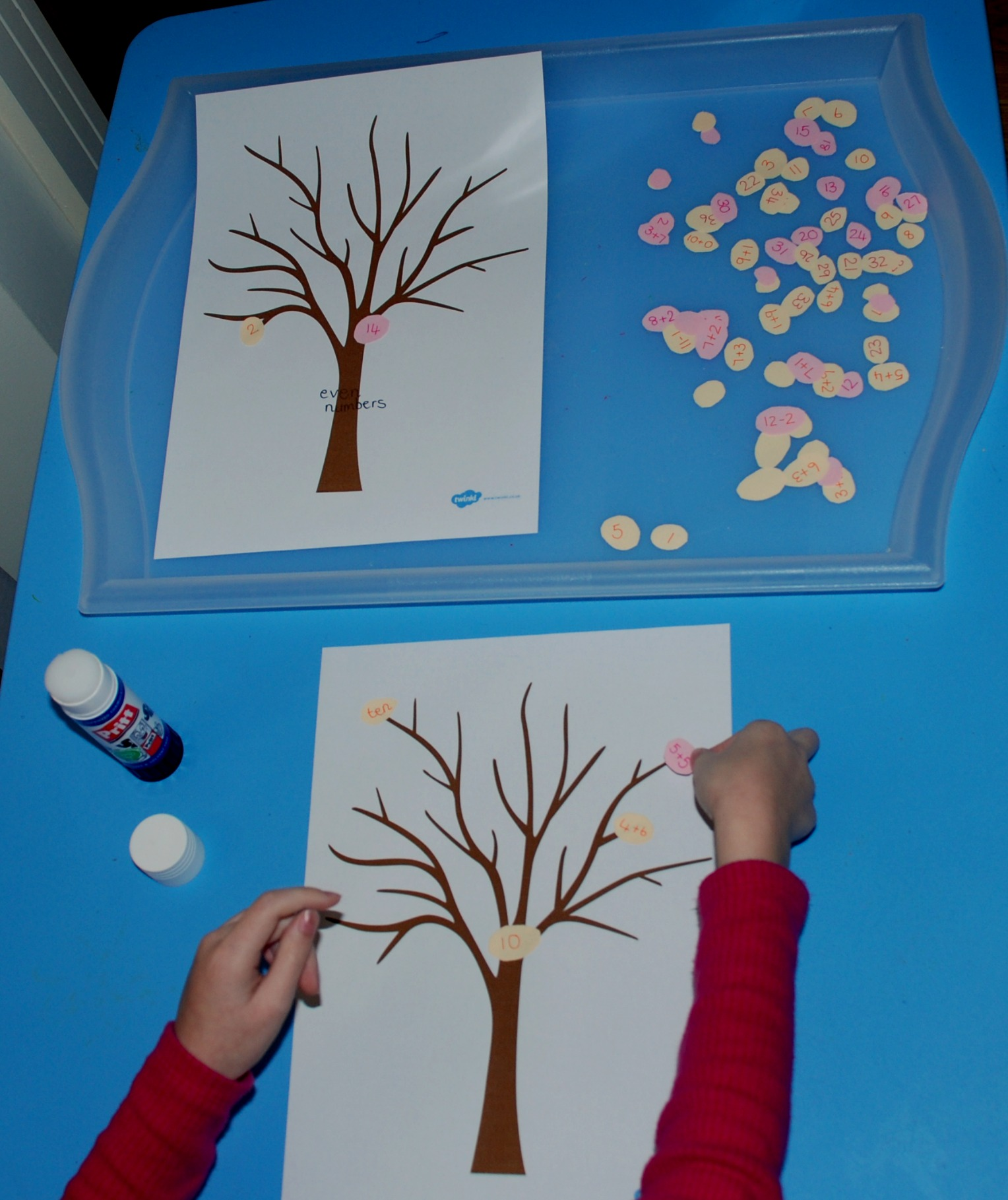 Spring Tree Craft And Maths Ofamily Learning Together