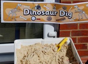 Dinosaur dig banner