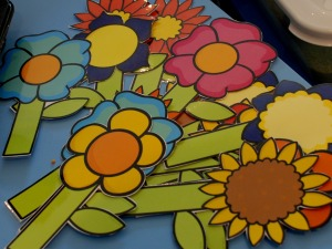 flowers from Twinkl laminated and cut out