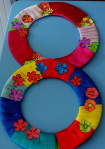ribbon and flower wreath 1