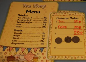 tea shop order with money