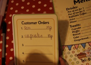 tea shop order