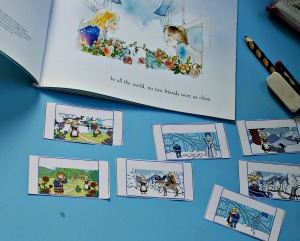 the snow queen cutting out the flap book