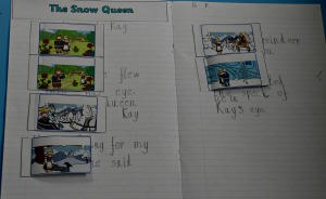 The snow queen flap book