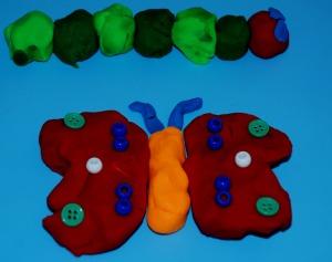 the very hungry caterpillar playdough