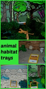 animal habitat trays