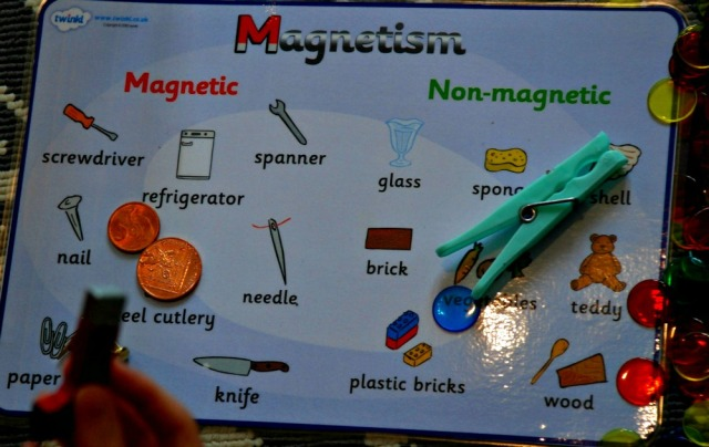 Magnetism Word Card Free To download from Twinkl. Great resource to use for science with young children
