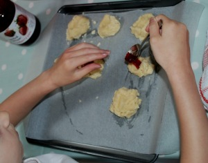 making thumprint cookies