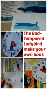 The Bad-Tempered ladybird activity.  Make your own mini-book and use the clock to go with it