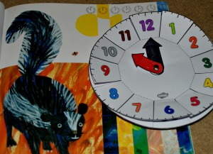 The bad tempered ladybird book with the Twinkl clock