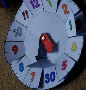 Twinkl clock with the 5 minute flaps