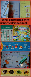Twinkl pages we used with the Usborne look Inside Science Book