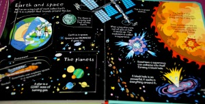 Usborne Look Inside Science earth and space page